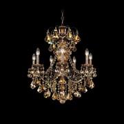 Schonbek New Orleans 7-Light Crystal Chandelier; Polished Silver / Strass Golden Teak