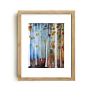 Mai Autumn Fall Leaves by Christine Lindstrom Framed Painting Print; 30'' H x 20'' W