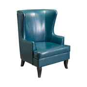 Home Loft Concepts Canterburry High Back Wing Club Chair; Teal