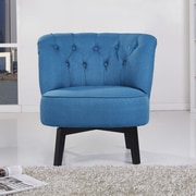 Gold Sparrow Raleigh Swivel Chair; Blue