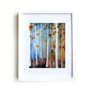 Mai Autumn Fall Leaves by Christine Lindstrom Framed Painting Print; 14'' H x 11'' W