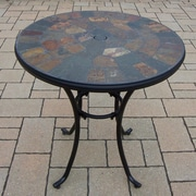 Oakland Living Stone Art Bistro Table; Black