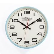 Control Brand Bedford 13.75'' Wall Clock; Blue