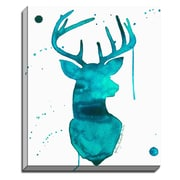 Bashian Home Turquoise Deer by Kelsey McNatt Painting Print on Canvas; 30'' H x 20'' W x 2'' D