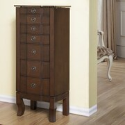 CTE Trading 6 Drawer Jewelry Armoire; Coffee