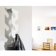 j-me Original Design Wave Coat Rack; White