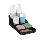 Mind Reader Trove 7 Compartment Coffee Condiment Organizer, Black (COMP7-BLK)