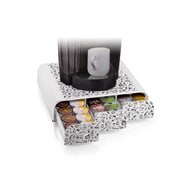 Mind Reader Anchor Coffee Pod Triple Drawer, 36 Capacity, White Print (TRAY6-WHTP)