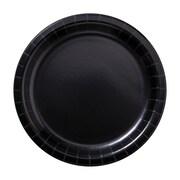 "Hoffmaster 7"" Round Black Paper Plates, 1,000 per Case (PL7072)"