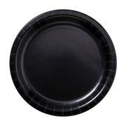 "Hoffmaster 9"" Round Black Paper Plates, 600 per Case (PL7096)"
