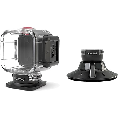 Polaroid Plastic/Rubber Suction Cup Mount for Cube HD Action Lifestyle Camera, Black 1966992