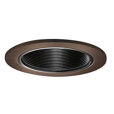 Cooper Lighting 4'' Recessed Trim; Bronze