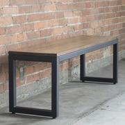 Elan Furniture Loft Wood/Metal Dining Bench; Chocolate / Textured Black