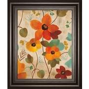 ClassyArtWholesalers Vibrant Embroidery III by Silvia Vassileva Framed Painting Print