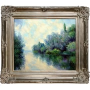 Tori Home The Seine Near Giverny by Claude Monet Framed Painting Print