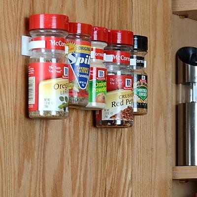 Spicestor Cabinet Door 20 Clip Spice Rack
