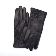 Royce Leather Phone and Tablet Touchscreen Capable Genuine Lambskin Gloves, Black, Pair, Women's Large (1010-BLLG-1)