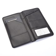 Royce Leather Passport Travel Document Wallet in Leather, Black (216-BLACK-10)