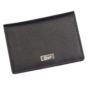 Royce Leather RFID Blocking Coin Credit Card Case Wallet in Genuine Leather, Black (RFID-417-BLK-2)