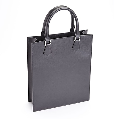 Royce Leather RFID Blocking Black Saffiano Leather Women's Laptop Tote Bag (RFID-657-BLK-2)