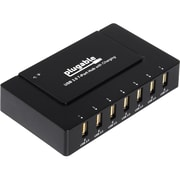 Plugable 7-Port USB 3.0 Charging Hub with 60 W Power Adapter, Matte Black (USB3-HUB7BC)