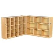 ECR4Kids Fold and Lock 33 Tray Storage Cabinet; Sand