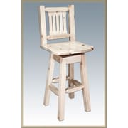 Montana Woodworks  Homestead 30'' Swivel Bar Stool; Ready to Finish