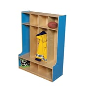 Wood Designs 1 Tier 4-Section Seat Locker; Blueberry