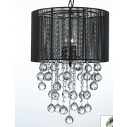 Harrison Lane 3 Light Crystal Chandelier; Black