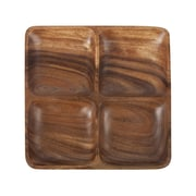 Core Bamboo Acacia Perfectly Square Entertainment Platter