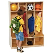 Wood Designs 1 Tier 4-Section Seat Locker; Natural