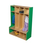 Wood Designs 1 Tier 4-Section Seat Locker; Green Apple