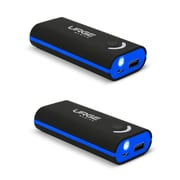 Urge Basics 4000mAh Power Bank, Black / Blue - 2 Pack