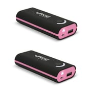 Urge Basics 4000mAh Power Bank, Black / Pink - 2 Pack