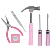 Stalwart 7 PieceTool Kit, Household Car & Office, Pink
