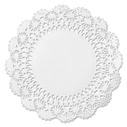 """Hoffmaster® Doilies, Lace Paper, 12"""", Round, White, 1000/Carton (HFM 500239)"""