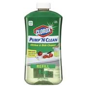 Clorox® Pump 'n Clean Kitchen Cleaner, Citrus Scent, 24 Oz Pump Bottle, 4/carton