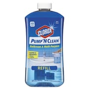 Clorox® Pump 'n Clean Bathroom Cleaner, Rain Clean Scent, 24 Oz Pump Bottle