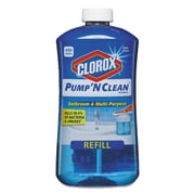 Clorox® Pump 'n Clean Bathroom Cleaner, Rain Clean Scent, 24 Oz Pump Bottle, 4/carton