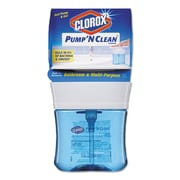 Clorox® Pump 'n Clean Bathroom Cleaner, Rain Clean Scent, 12 Oz Pump Bottle, 6/carton