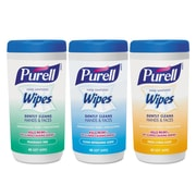 PURELL® Hand Sanitizing Wipes, 5.7 X 7 1/2, Assorted, 40/canister, 18/carton