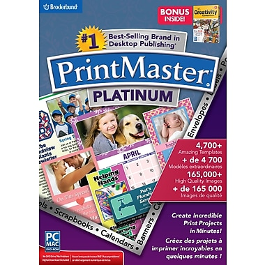 PrintMaster – Platinum v7 avec la collection The Creativity en prime