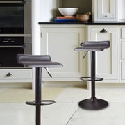 AdecoTrading Adjustable Height Swivel Bar Stool (Set of 2)