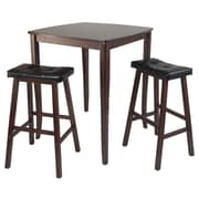 Winsome Inglewood 3 Piece Counter Height Pub Table Set