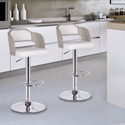 AdecoTrading Adjustable Height Swivel Bar Stool with Cushion