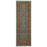Rugnur Hammam Maxy Home Traditional Floral Ocean Blue Area Rug; Runner 2'8'' x 9'10''