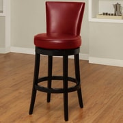 Armen Living Boston 26'' Swivel Bar Stool with Cushion; Red