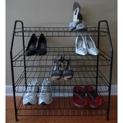 ATH Home Contemporary 4 Tier Shoe Rack; Black