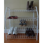 ATH Home Contemporary 4 Tier Shoe Rack; White