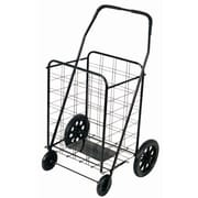 Trimmer 42'' Shopping Cart with Rounded Handle; Black